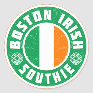 Boston Irish Southie Classic Round Sticker