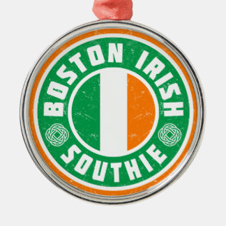 Boston Irish Southie Metal Ornament