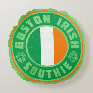 Boston Irish Southie Pillow Irish American Round Pillow