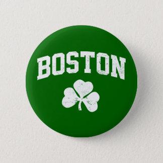 boston irish st patrick's shamrock clover southi pinback button