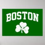boston irish st patrick's shamrock clover southie print