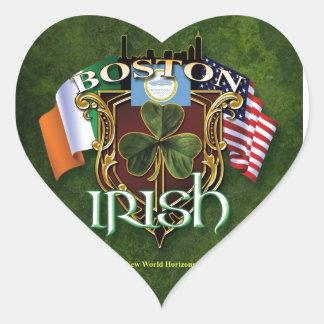 Boston Irish Heart Stickers