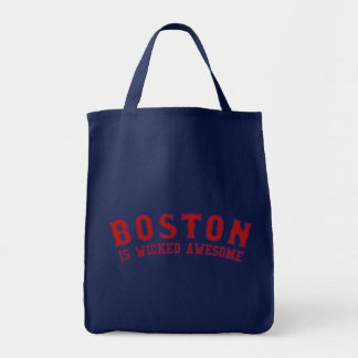 Boston is Wicked Awesome Grocery Tote Bag