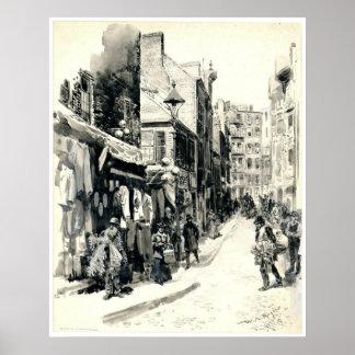 Boston Jewish Quarter 1899 Poster