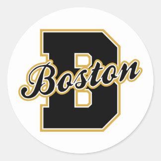 Boston Letter Classic Round Sticker