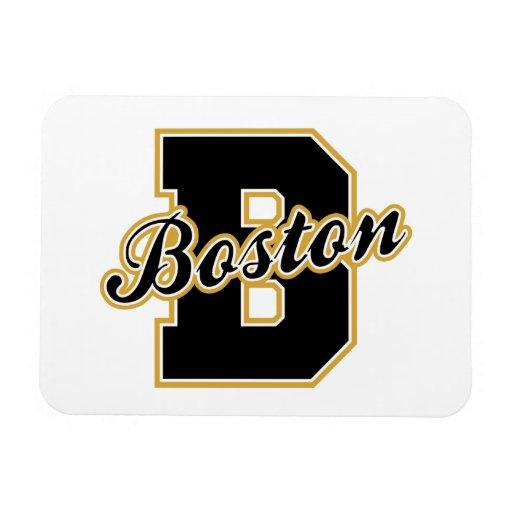 Boston Letter Rectangle Magnets