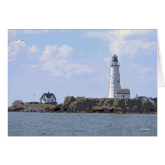 Boston Light--thinking of you Stationery Note Card