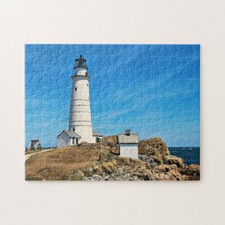 Boston Lighthouse, Massachusetts Jigsaw Puzzle