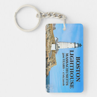 Boston Lighthouse, Massachusetts Keychain