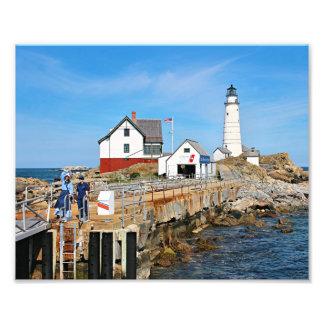 Boston Lighthouse, Massachusetts Photo Print