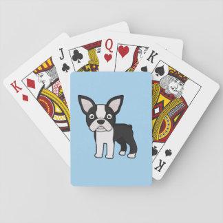 Boston linda Terrier Cartas De Juego