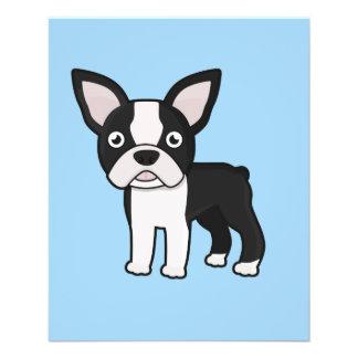 "Boston linda Terrier Folleto 4.5"" X 5.6"""