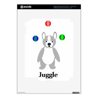 Boston linda Terrier que hace juegos malabares el iPad 3 Pegatinas Skins