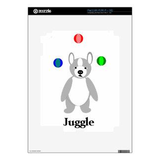 Boston linda Terrier que hace juegos malabares el Skins Para iPad 2
