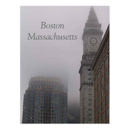 Boston lluviosa Massachusetts Tarjetas Postales