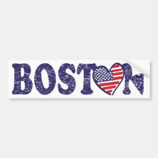 Boston Love Car Bumper Sticker