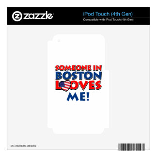 BOSTON love designs Decals For iPod Touch 4G