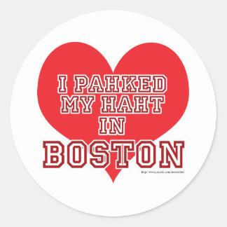 Boston Love Round Sticker