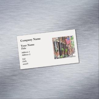 Boston MA - Acorn Street Business Card Magnet