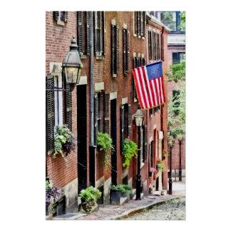 Boston MA - Acorn Street Poster