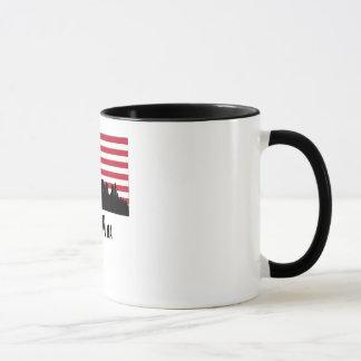Boston MA American Flag Mug