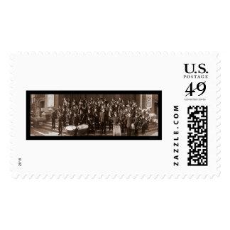 Boston MA Band Photo 1903 Stamp
