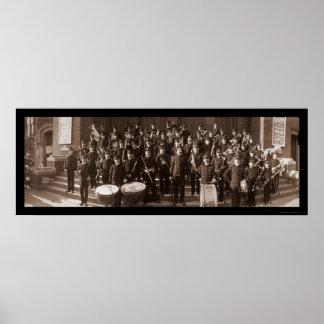 Boston MA Band Photo 1903 Print