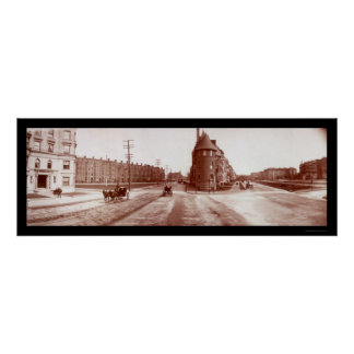Boston, MA Beacon Street Huge Photo 1903 Poster