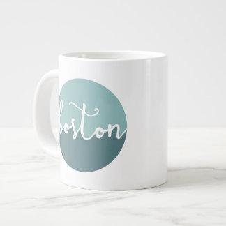 Boston, MA | Blue Circle Ombre Large Coffee Mug