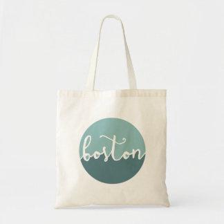 Boston, MA | Blue Circle Ombre Tote Bag
