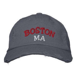 Boston, mA bordó el gorra Gorra De Béisbol Bordada