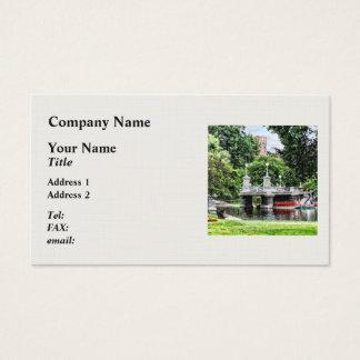 Boston MA - Boston Public Garden Bridge Business Card