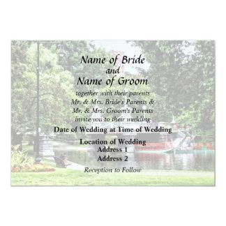 Boston MA - Boston Public Garden Bridge Card