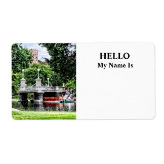 Boston MA - Boston Public Garden Bridge Label