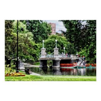 Boston MA - Boston Public Garden Bridge Poster