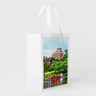 Boston MA - Boston Public Garden Grocery Bag