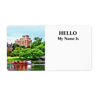 Boston MA - Boston Public Garden Label