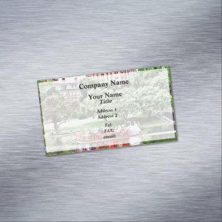 Boston MA - Boston Public Garden Magnetic Business Card