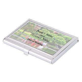 Boston MA - Boston Public Garden Wedding Supplies Business Card Case