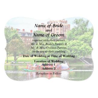 Boston MA - Boston Public Garden Wedding Supplies Card