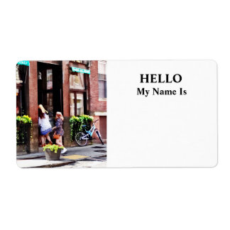 Boston MA - Cafe in Little Italy Label