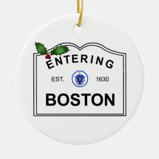 Boston mA Adorno Redondo De Cerámica