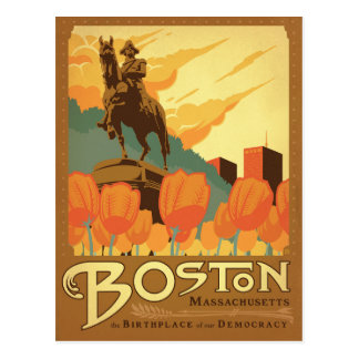 Boston, mA - el lugar de nacimiento de nuestra Tarjetas Postales