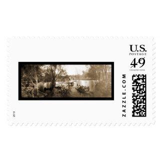 Boston MA Garden Boats Photo 1904 Postage Stamp