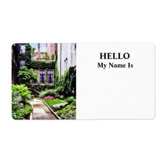Boston MA - Hidden Garden Label