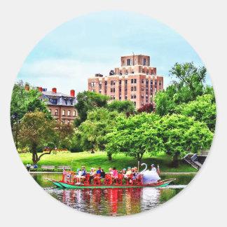 Boston mA - Jardín público de Boston Pegatina Redonda