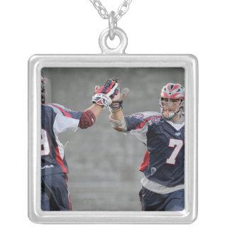 BOSTON, MA - JULY 23:  Paul Rabil #99 and Matt Silver Plated Necklace