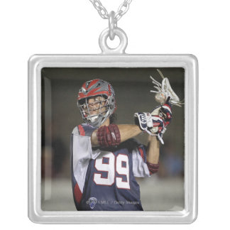 BOSTON, MA - JULY 23:  Paul Rabil #99 Silver Plated Necklace