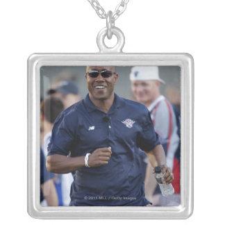 BOSTON, MA - JULY 9:  Coach Bill Daye Silver Plated Necklace