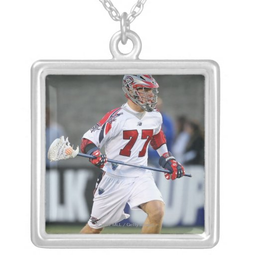 BOSTON, MA - JUNE 04:  Kyle Sweeney #77 Square Pendant Necklace